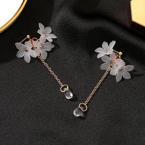 3/$20 New Acrylic Gold Flower Dangle Earrings
